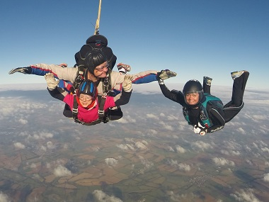 Tandem Skydive for Breast Cancer Now